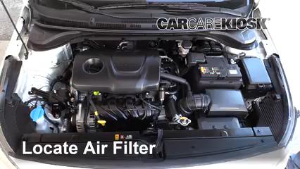 2018 Hyundai Accent SEL 1.6L 4 Cyl. Filtre à air (moteur) Contrôle
