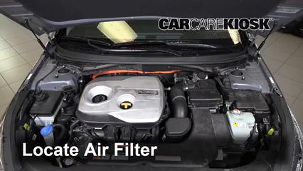 2018 Hyundai Sonata Hybrid Limited 2.0L 4 Cyl. Filtro de aire (motor) Cambio