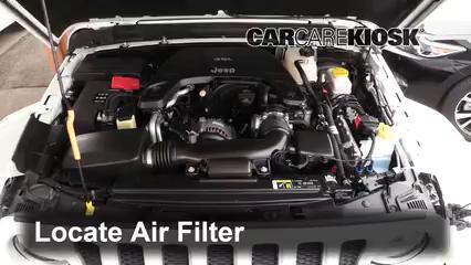 2018 Jeep Wrangler Unlimited Sport 3.6L V6 Air Filter (Engine)