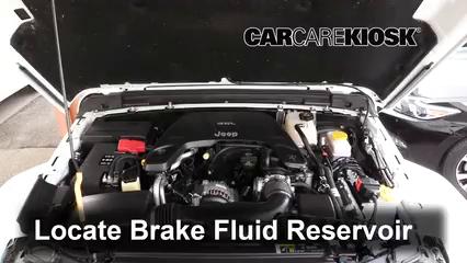 2018 Jeep Wrangler Unlimited Sport 3.6L V6 Brake Fluid