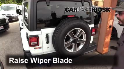 2018 Jeep Wrangler Unlimited Sport 3.6L V6 Windshield Wiper Blade (Rear)