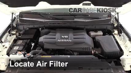2018 Nissan Titan SV 5.6L V8 Extended Cab Pickup Air Filter (Engine)