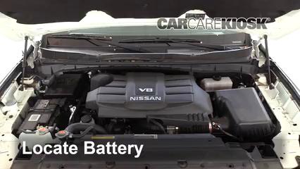 2018 Nissan Titan SV 5.6L V8 Extended Cab Pickup Battery
