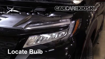 2019 Honda Passport Elite 3.5L V6 Lights Headlight (replace bulb)