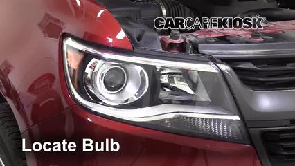 2019 Chevrolet Colorado Z71 2.8L 4 Cyl. Turbo Diesel Crew Cab Pickup Lights Highbeam (replace bulb)