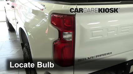 2019 Chevrolet Silverado 1500 Custom Trail Boss 4.3L V6 Crew Cab Pickup Luces Luz de reversa (reemplazar foco)