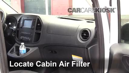 2019 Mercedes-Benz Metris 2.0L 4 Cyl. Turbo Mini Cargo Van Filtro de aire (interior) Control