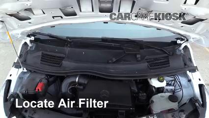 2019 Mercedes-Benz Metris 2.0L 4 Cyl. Turbo Mini Cargo Van Filtro de aire (motor) Control