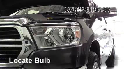 2019 Ram 1500 Big Horn 5.7L V8 Crew Cab Pickup Luces Luz de estacionamiento (reemplazar foco)