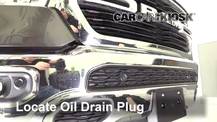 2019 Ram 1500 Big Horn 5.7L V8 Crew Cab Pickup Aceite Cambiar aceite y filtro de aceite