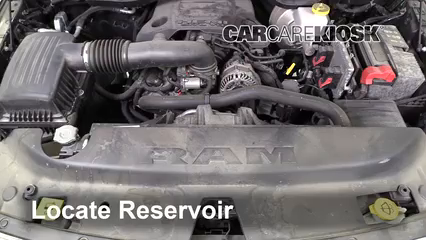 2019 Ram 1500 Big Horn 5.7L V8 Crew Cab Pickup Líquido limpiaparabrisas Agregar líquido