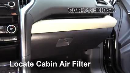 2019 Subaru Ascent Premium 2.4L 4 Cyl. Turbo Filtro de aire (interior)