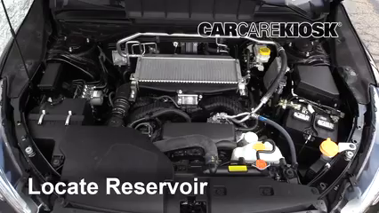 2019 Subaru Ascent Premium 2.4L 4 Cyl. Turbo Líquido limpiaparabrisas Controlar nivel de líquido